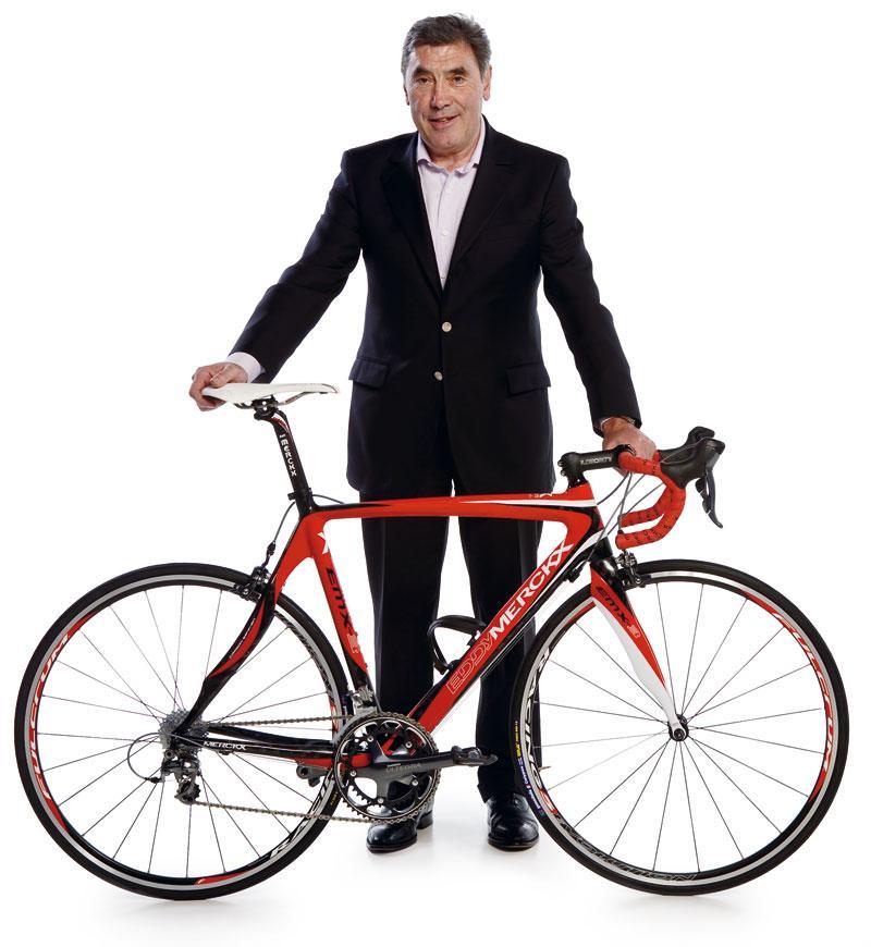 Eddy Merckx with EMX3 bike