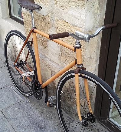 Leather bike by Jacques Ferrand