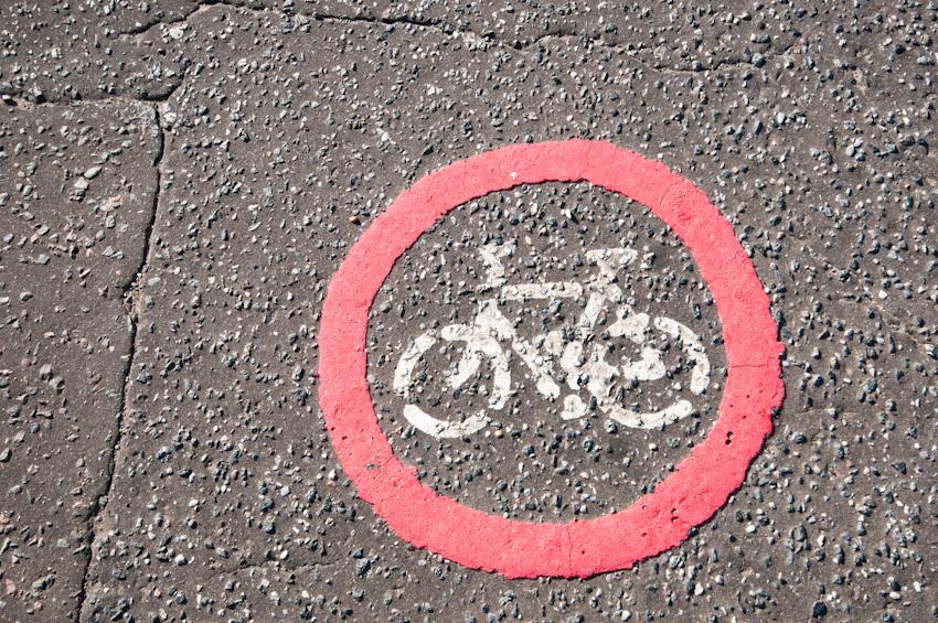 No cycling (photo: Martin Thomas)