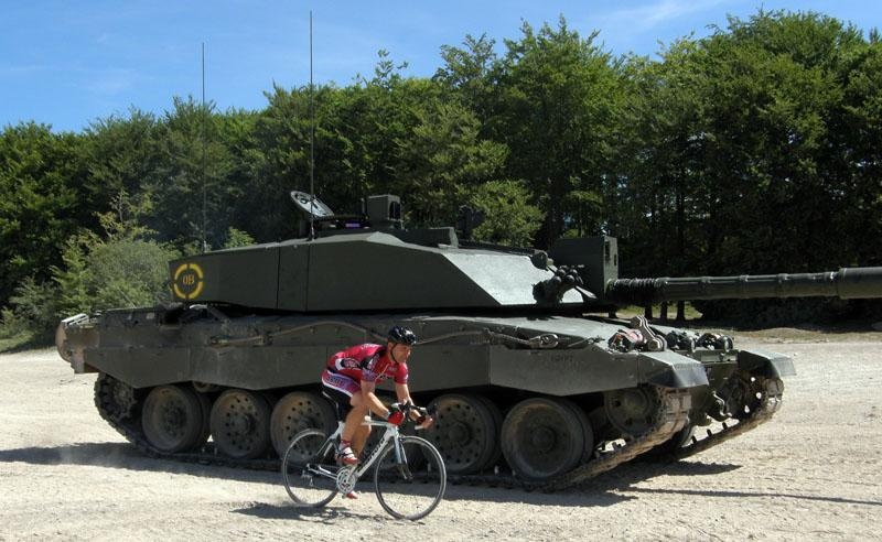 Tank vs bike - Pain on the Plain Sportive