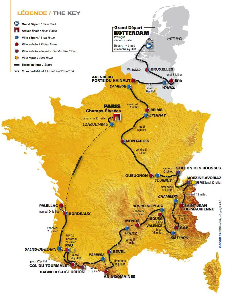 Tour de France 2010 route hi-res