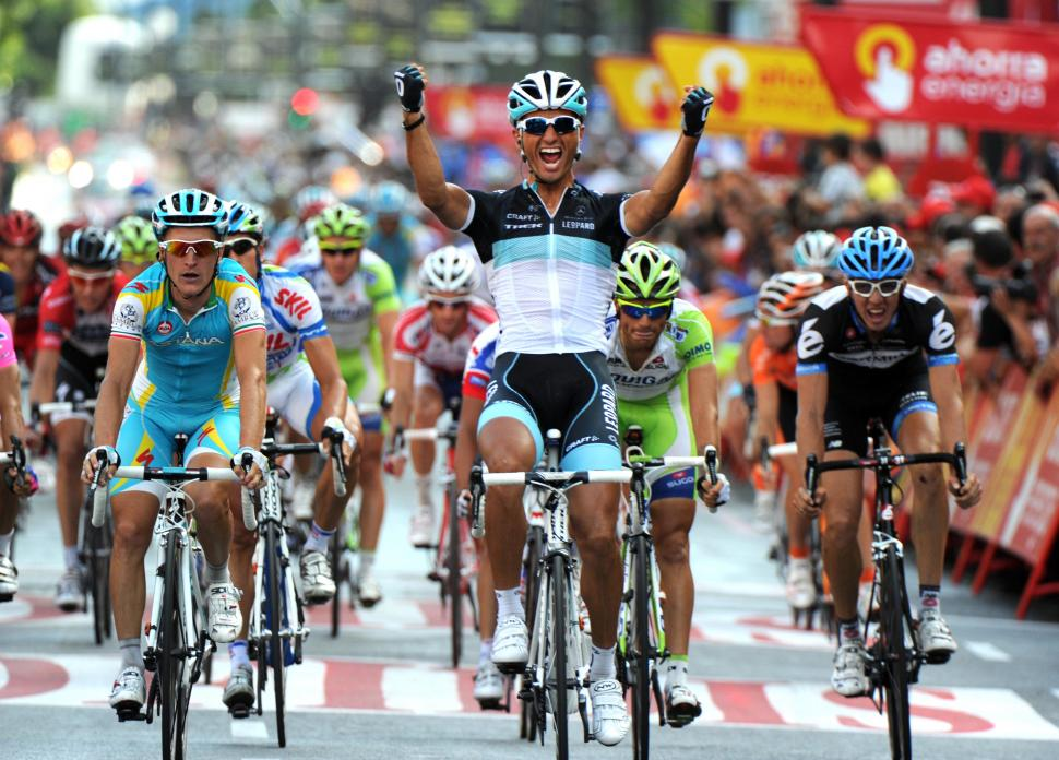 Daniele Bennati wins 2011 Vuelta Stage 20 (copyright: Tour of Spain/Graham Watson).jpg