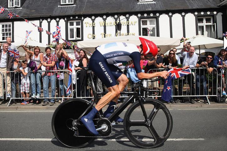 Wiggins on his UK Sport designed time trial bike