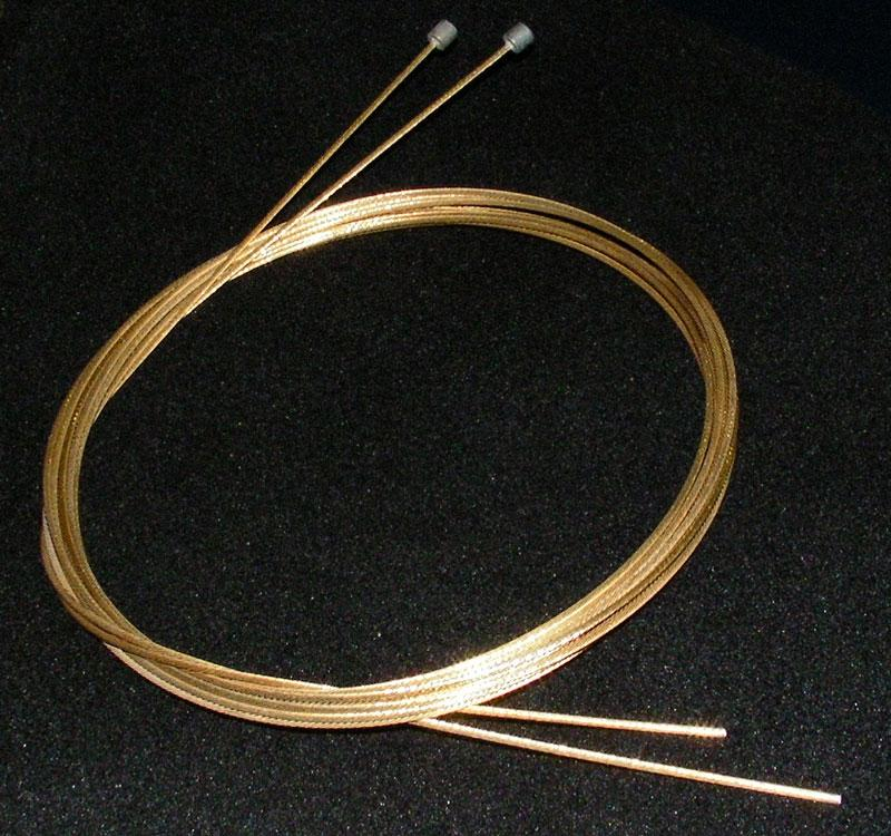 Gold plated gear cables