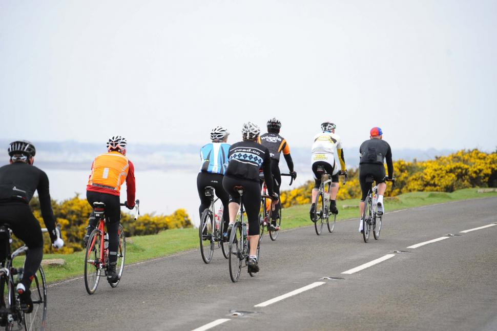 Riding by the sea on the road to Ogmore