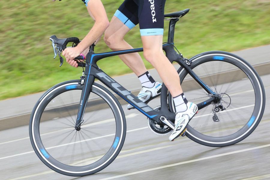 First Ride Fuji Transonic 1 3 Aero Road Bike
