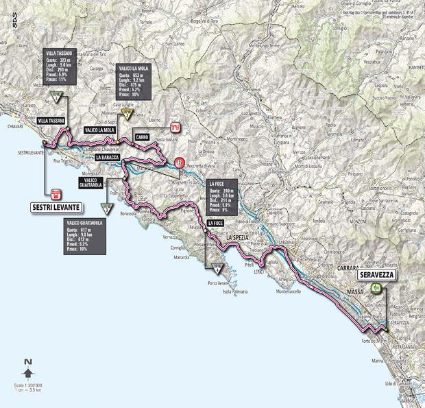 Giro 2012 Stage 12 map