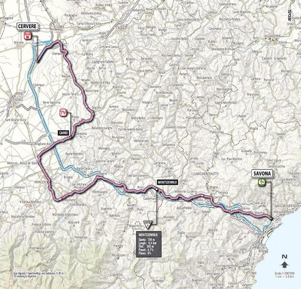 Giro 2012 Stage 13 map