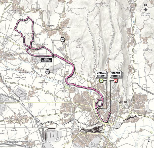 Giro 2012 Stage 4 map