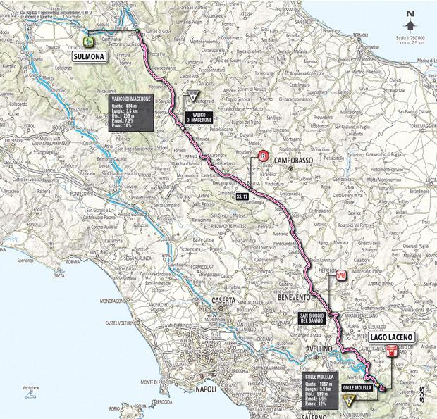 Giro 2012 Stage 8 map