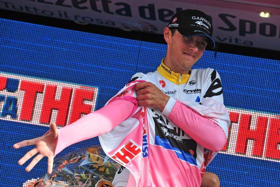 Giro 2012 S4 TTT New leader Ramunas Navardauskas (picture Gian Mattia D'Alberto - La Presse - RCS Sport) 1277