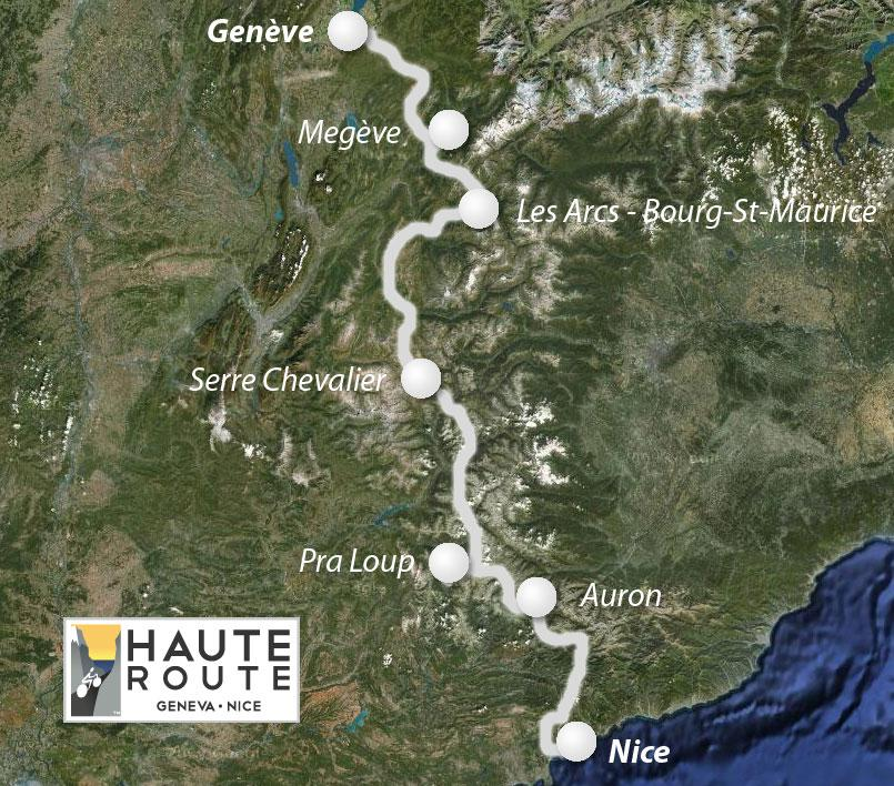 Haute Route Map