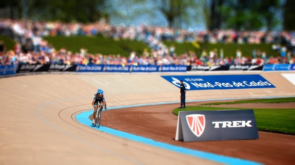 Johan Van Summeren wins 2011 Paris-Roubaix Tiltshift © Simon MacMichael-tiltshift-2