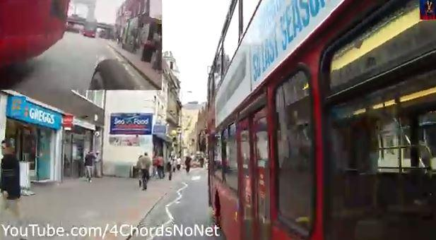 119 bus in Croydon (4ChordsNoNet YouTube still)