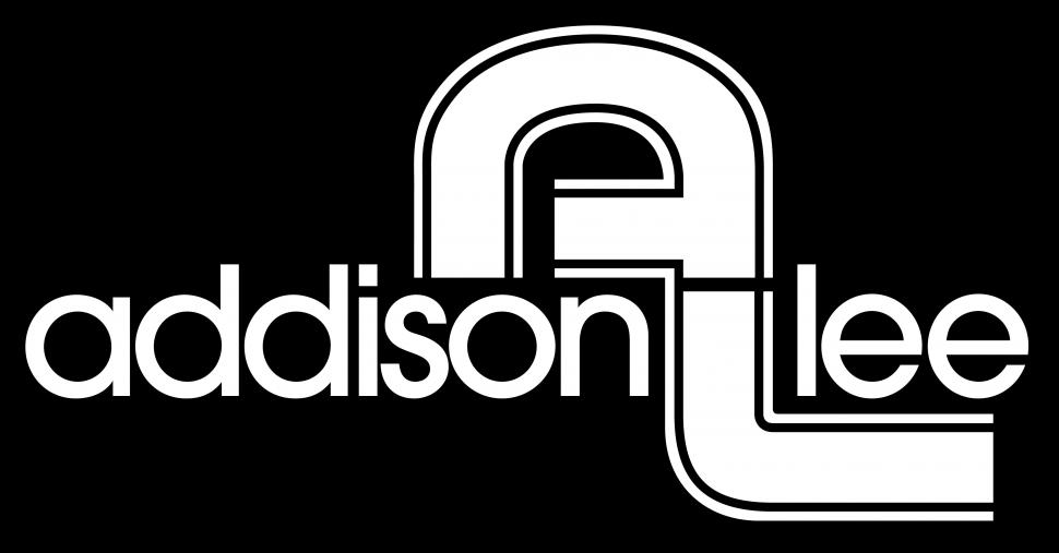 Addison Lee logo - white on black