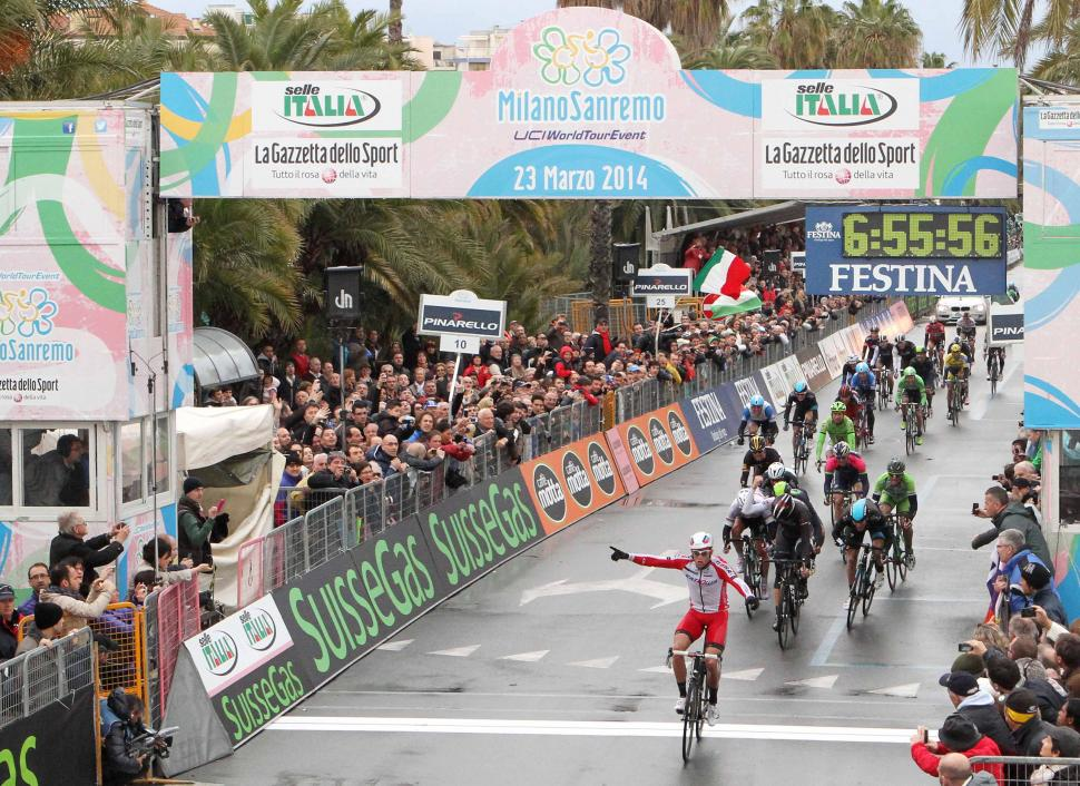 Alexander Kristoff wins 2014 Milan-San Remo (picture RCS Sport)