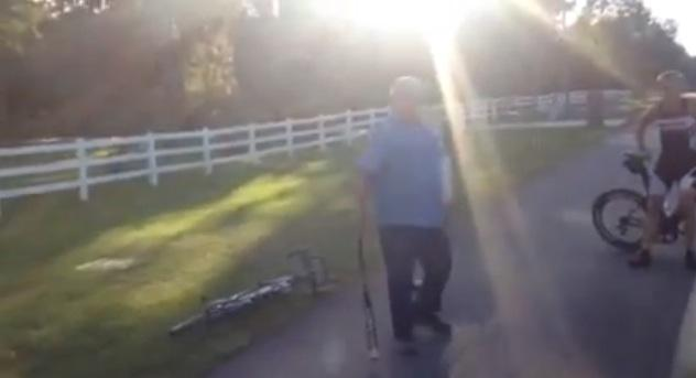 Baseball bat wielding motorist (source YouTube)