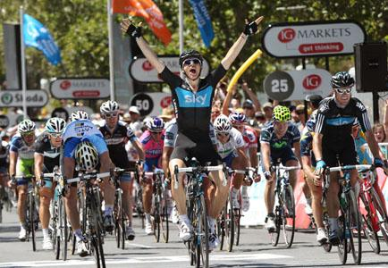 Ben Swift wins Stage 6 of the 2011 Santos Tour Down Under (copyright John Veage/Santos Tour Down Under).jpg