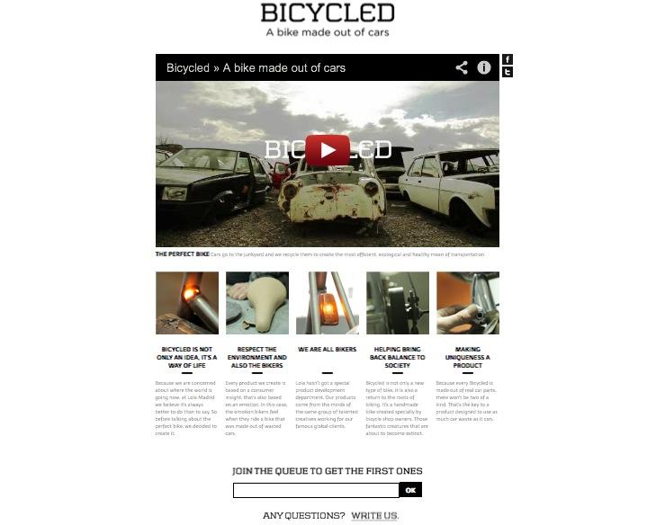 Bicycled Bikes website