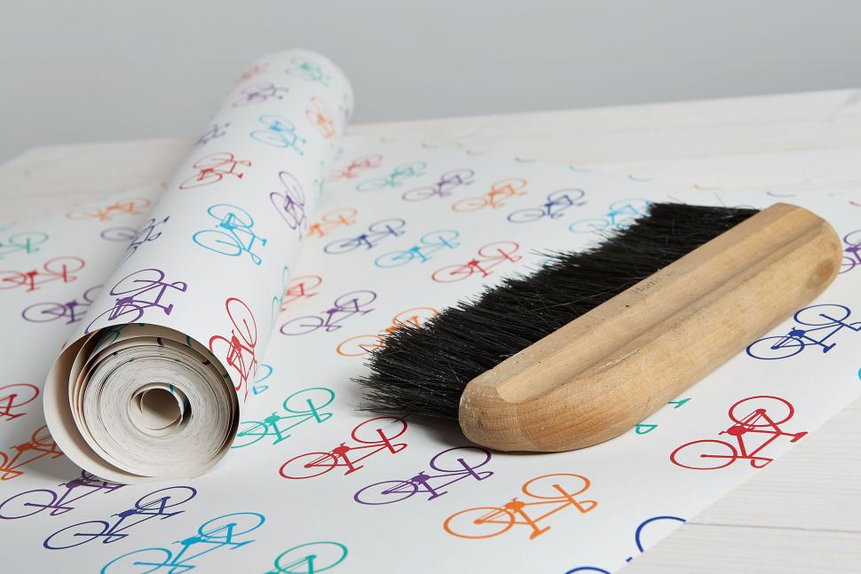 Bike wallpaper multi roll and brush long shot