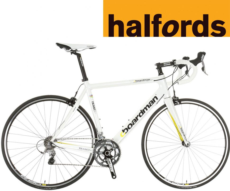 Boardman Team C bike with Halfords logo