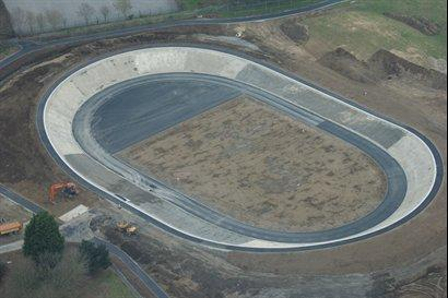 Bournemouth Velodrome under construction in 2011 - similar to proposed York Velodrome (image courtesy of Bournemouth Borough Council)