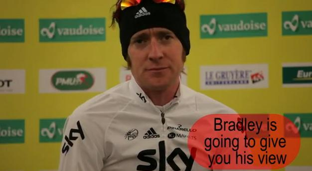Bradley Wiggins Romandie press conference