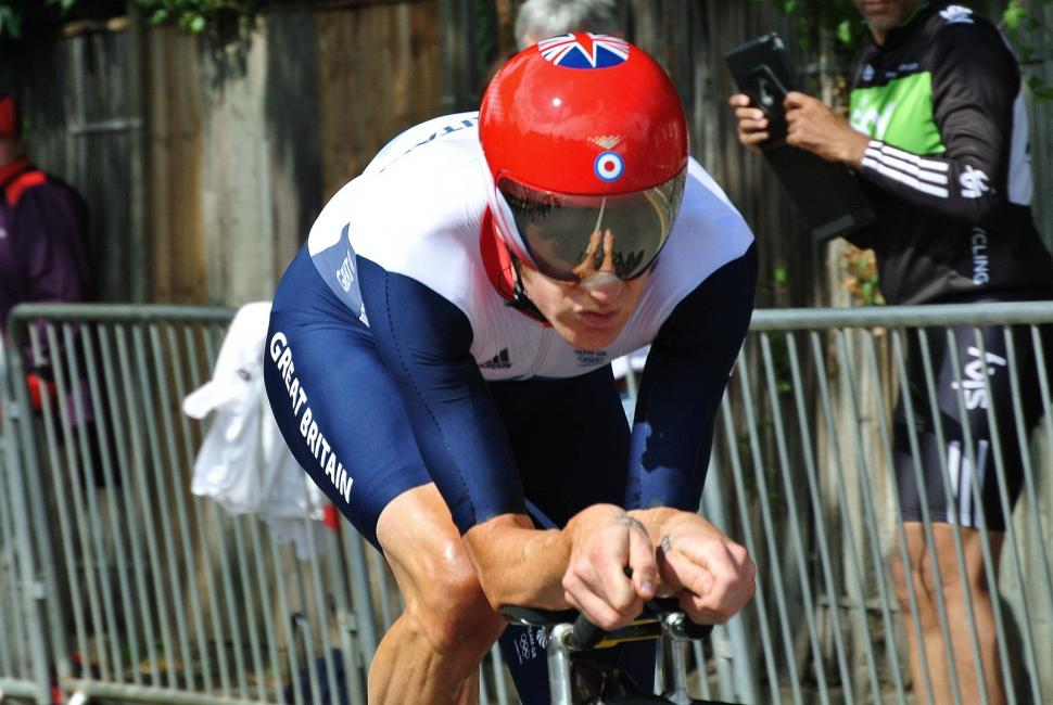Bradley Wiggins in the 2012 Olympic time trial (CC licenced by snoopdougydoug:Flickr)