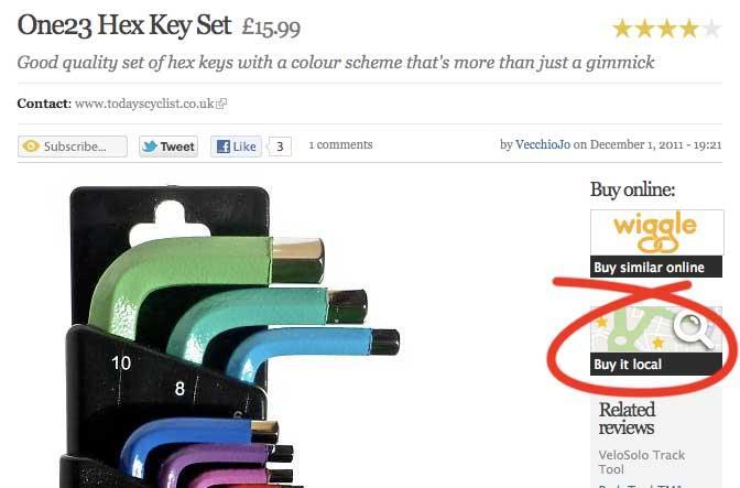 Buy it local on hex keys