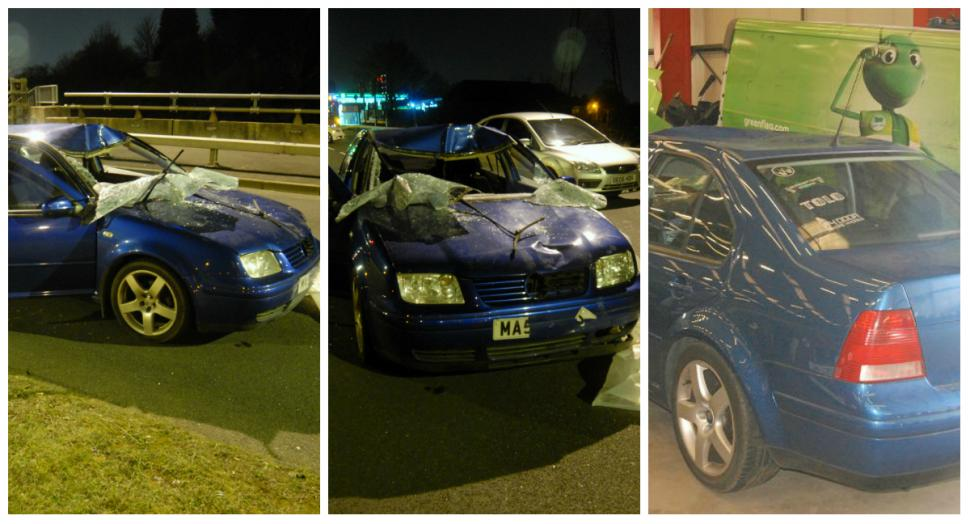 Car involved in fatal collision that killed Adam Jones (picture West Midlands Police)