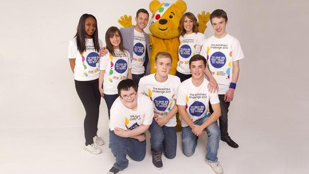 Children in Need 2012 Rickshaw Challenge team