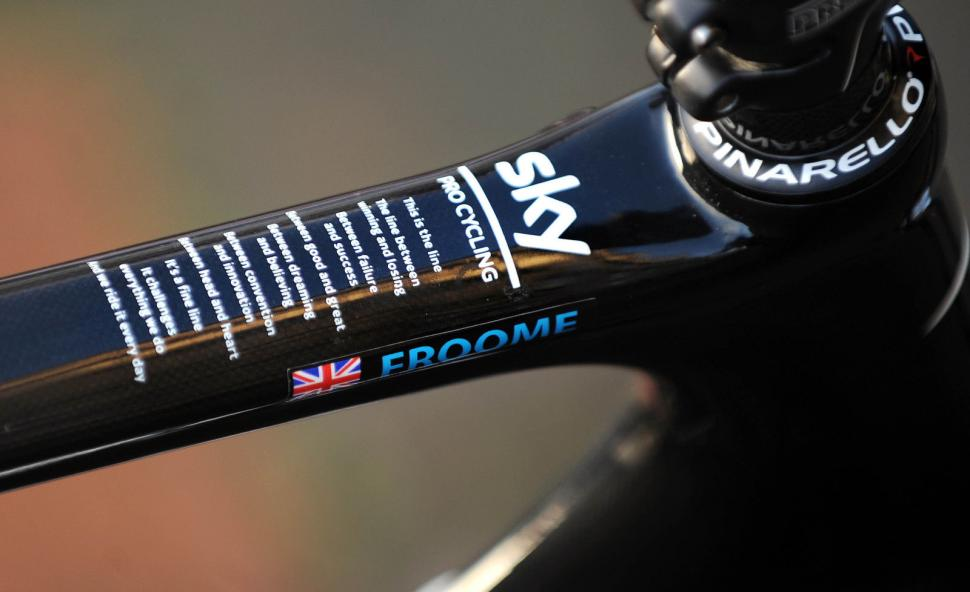 Looking For A New Bike Chris Froome S 2012 Team Sky Pinarello Up