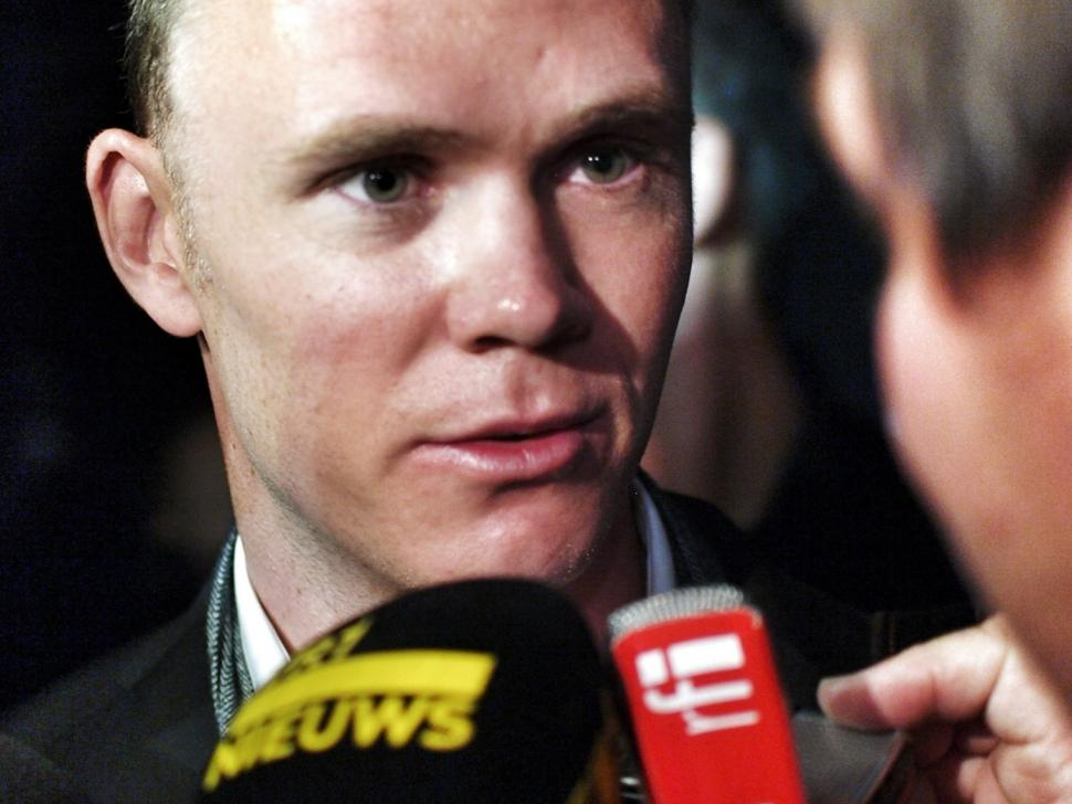 Chris Froome at 2013 Tour de France launch (copyright Simon MacMichael)
