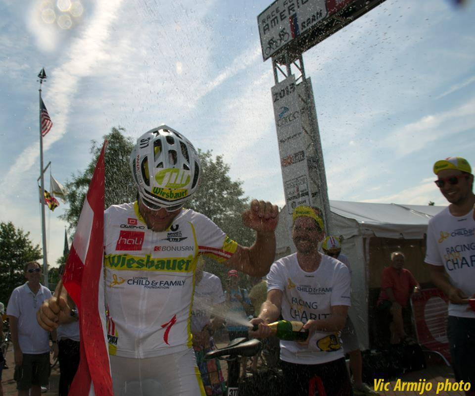 Christoph Strasser wins Race Across America Photo by Vic Armijo
