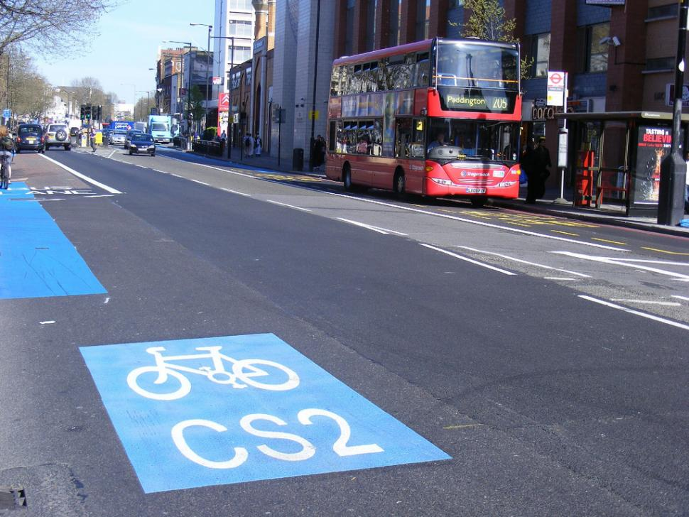 Cycle Superhighway 2 CC licensed by by sludgegulper:Flickr)