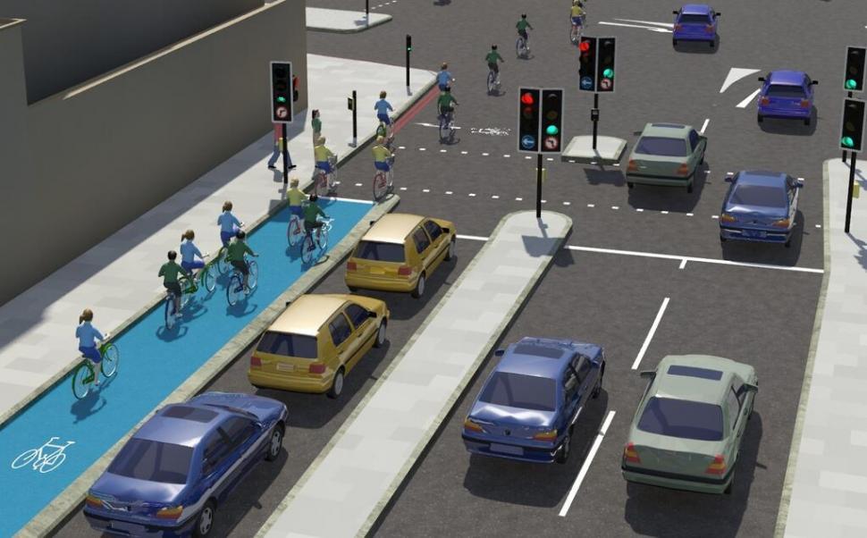 Cycle Superhighways plans - CS2 cycle junction