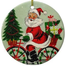 Cycling Santa (picture: zazzle.co.uk)