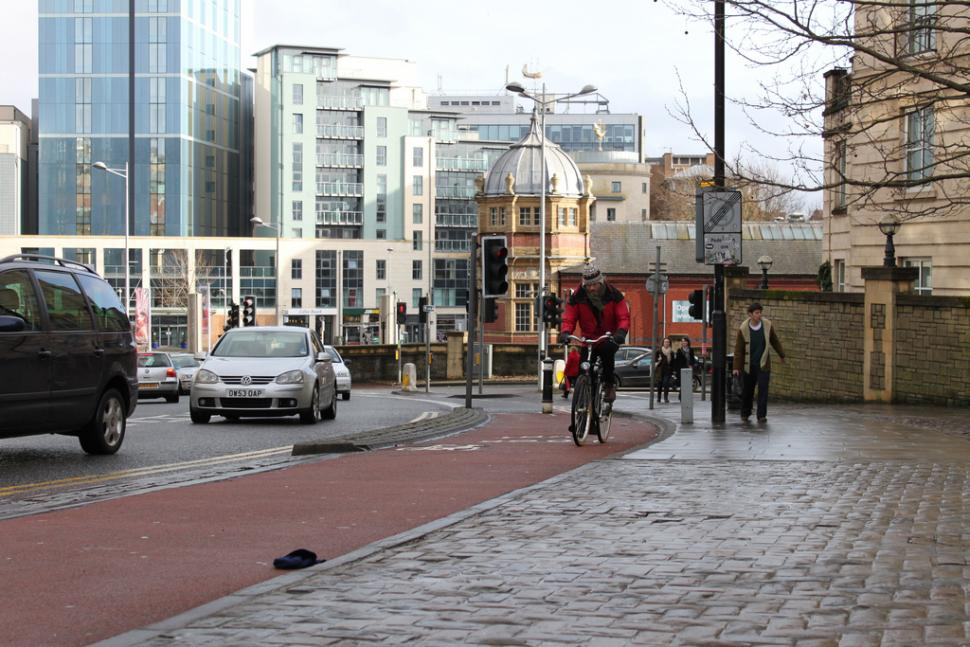 Cycling in Bristol (CC licensed by tejvanphotos)