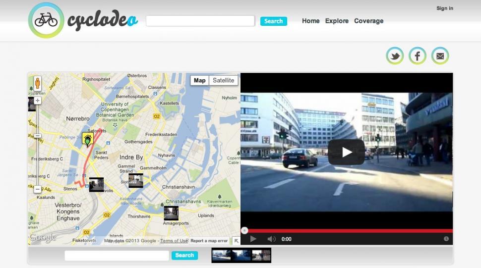 Cyclodeo Copenhagen screenshot