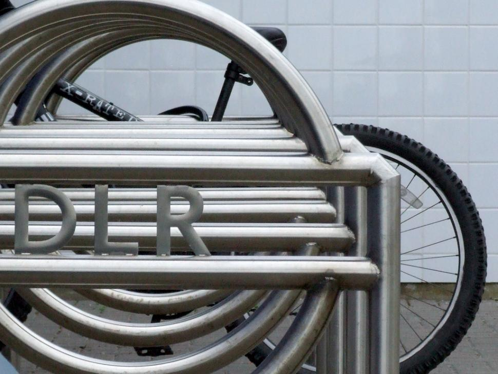 DLR bike rack (CC licensed image by failing_angel:Flickr)