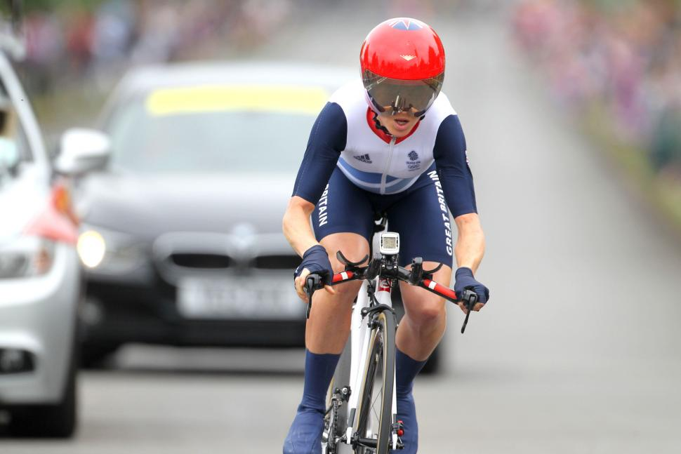 Emma Pooley in the 2012 Olympic time trial (copyright DCMS)