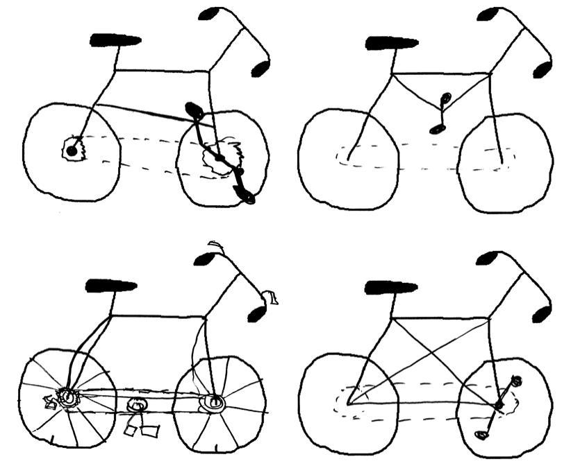 How to draw a bike helmet