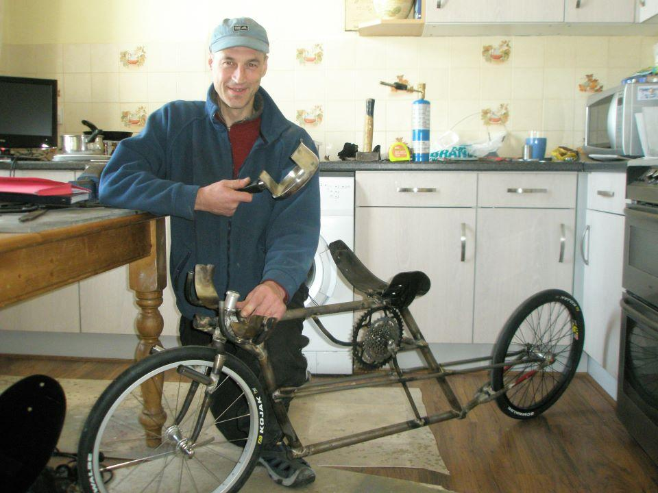 Graeme Obree HPV bike with saucepan (credit: Graeme Obree Official on Facebook)