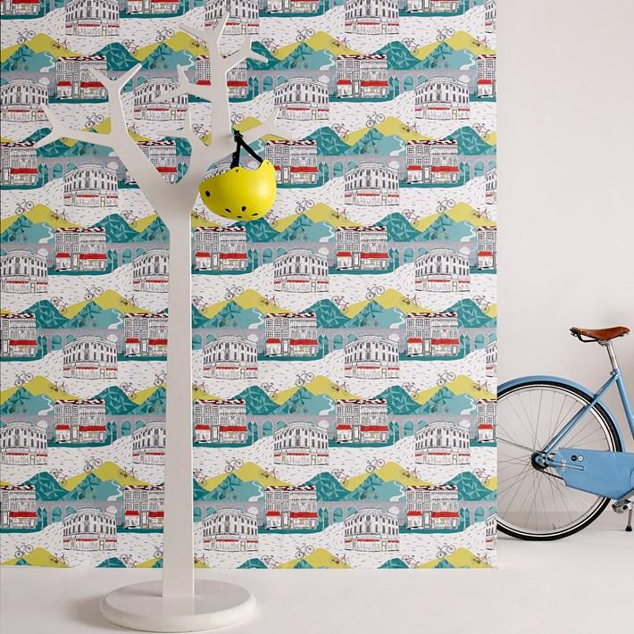 Graham and Brown Tour de Yorkshire wallpaper