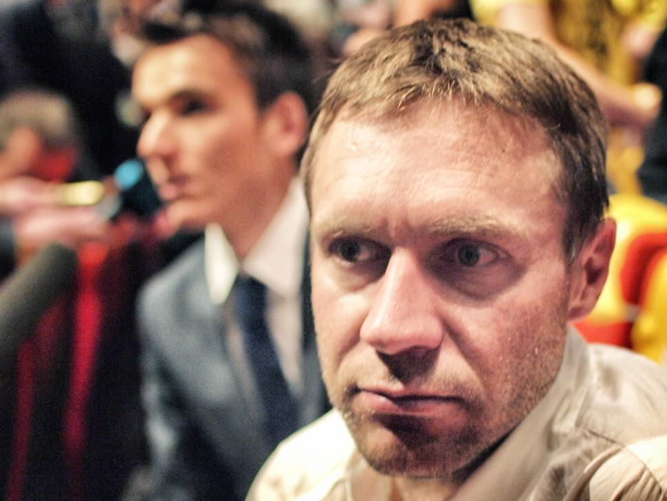 Jens Voigt at TDF 2014 presentation (copyright Simon MacMichael)