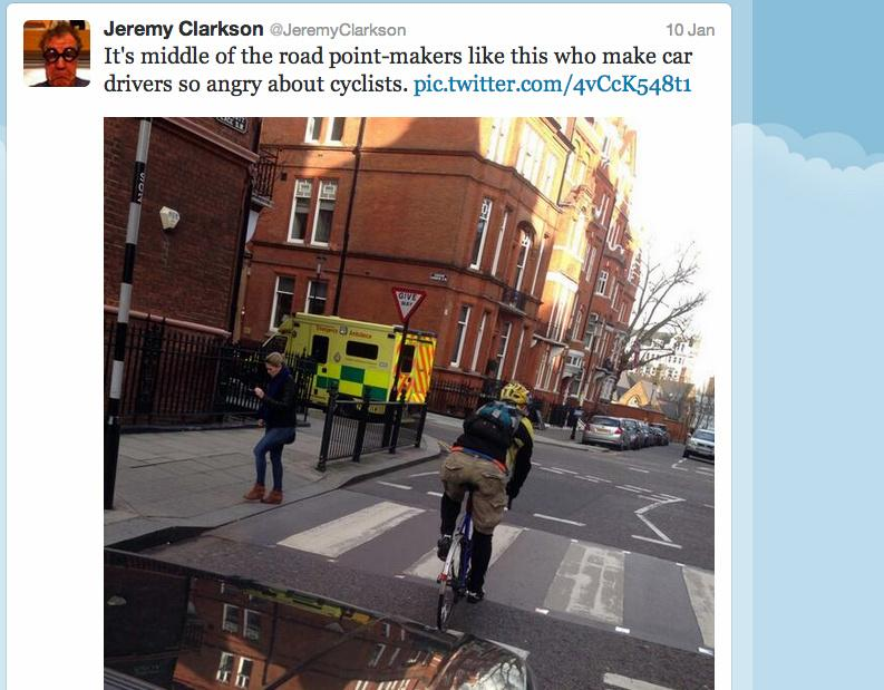 Jeremy Clarkson tweets about a point-maker