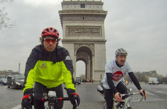 John Bishop and Chris Boardman (picture credit - Sport Relief)