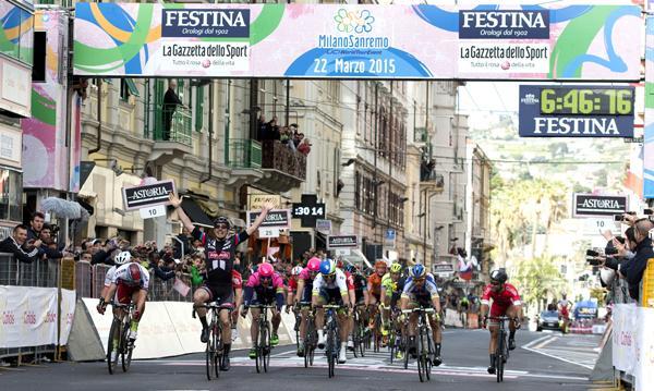 John Degenkolb wins 2015 Milan-San Remo (picture credit  ANSA - Dal Zennaro, Peri)