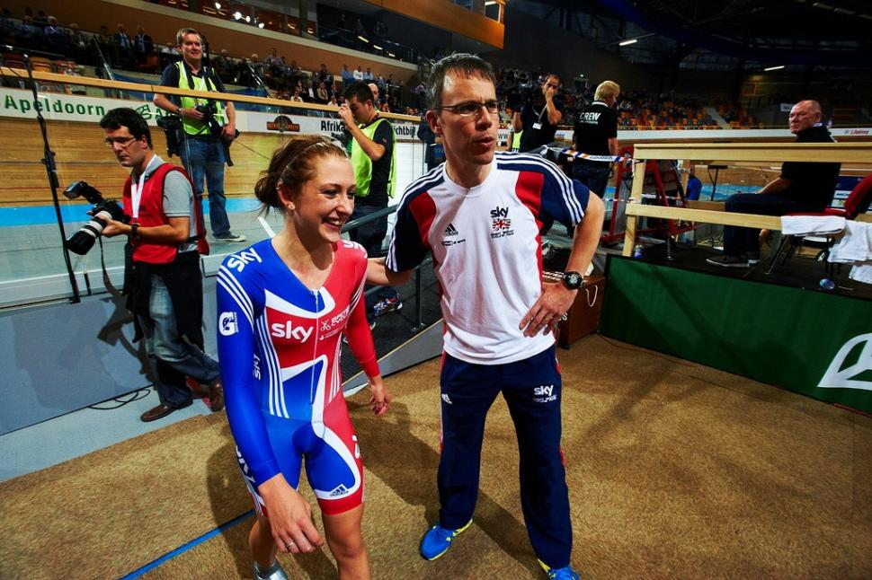 Laura Trott and Paul Manning (picture copyright britishcycling.org.uk)