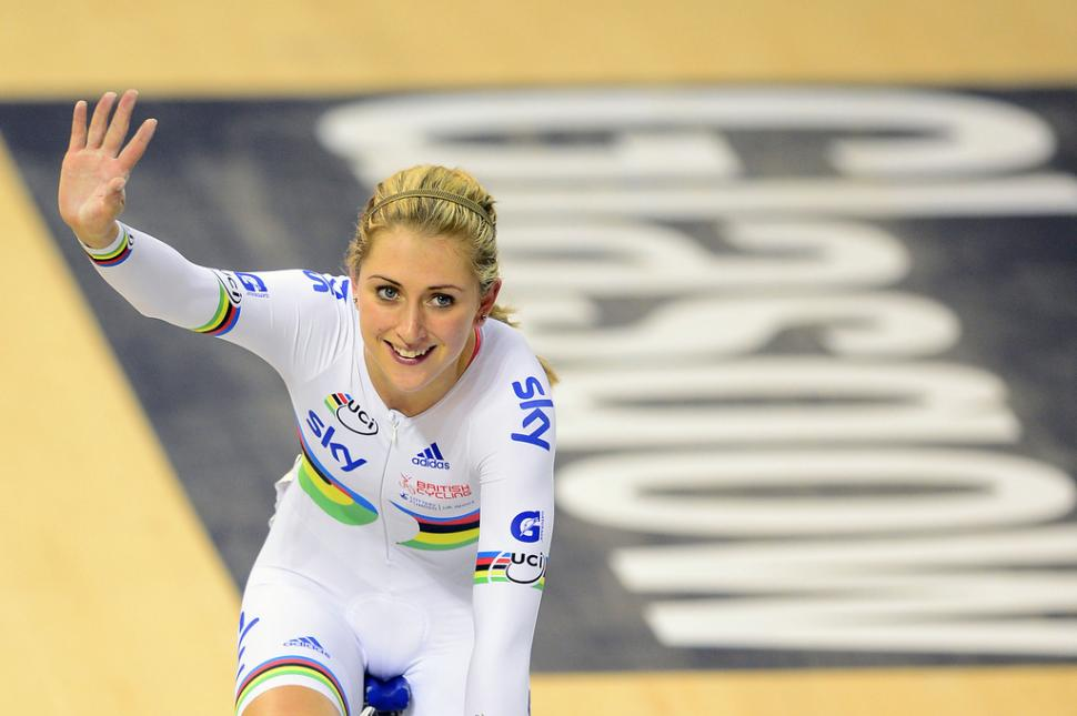 Laura Trott at the Glasgow track World Cup (copyright British Cycling)